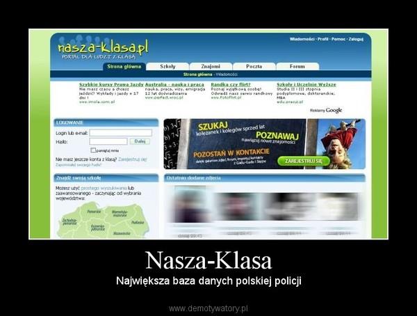 Nasza-Klasa – Największa baza danych polskiej policji