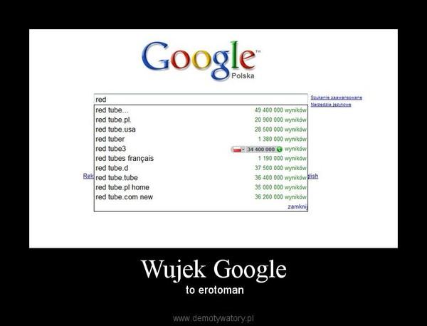 Wujek Google –  to erotoman