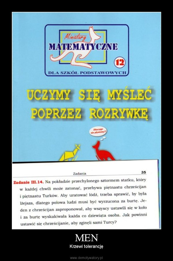 MEN – Krzewi tolerancję