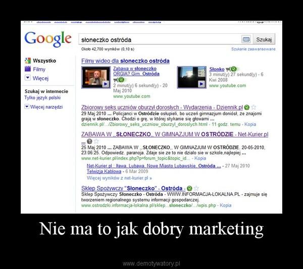 Nie ma to jak dobry marketing –