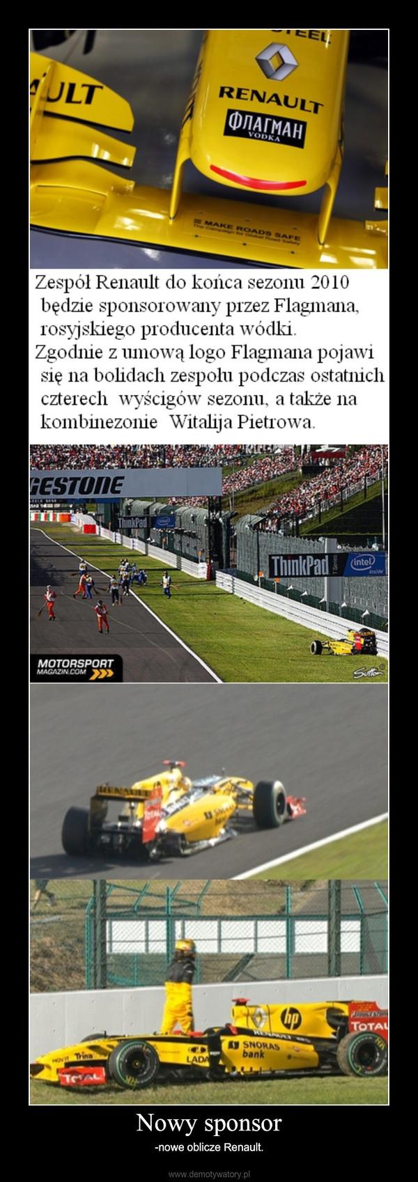 Nowy sponsor – -nowe oblicze Renault.