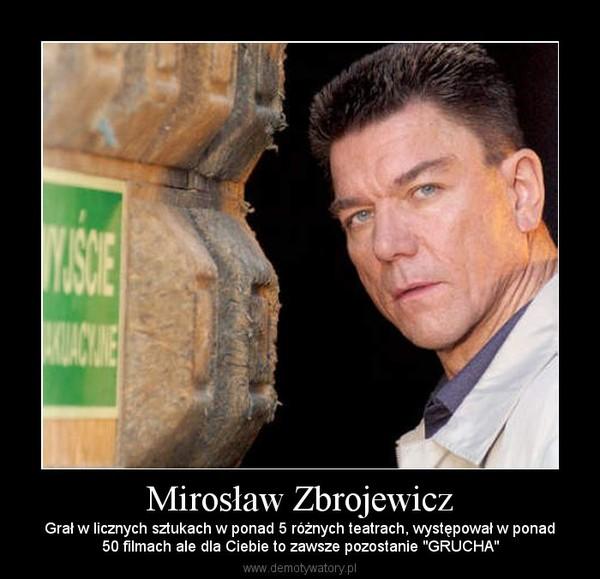 """Mirosław Zbrojewicz – Grał w licznych sztukach w ponad 5 różnych teatrach, występował w ponad50 filmach ale dla Ciebie to zawsze pozostanie """"GRUCHA"""""""