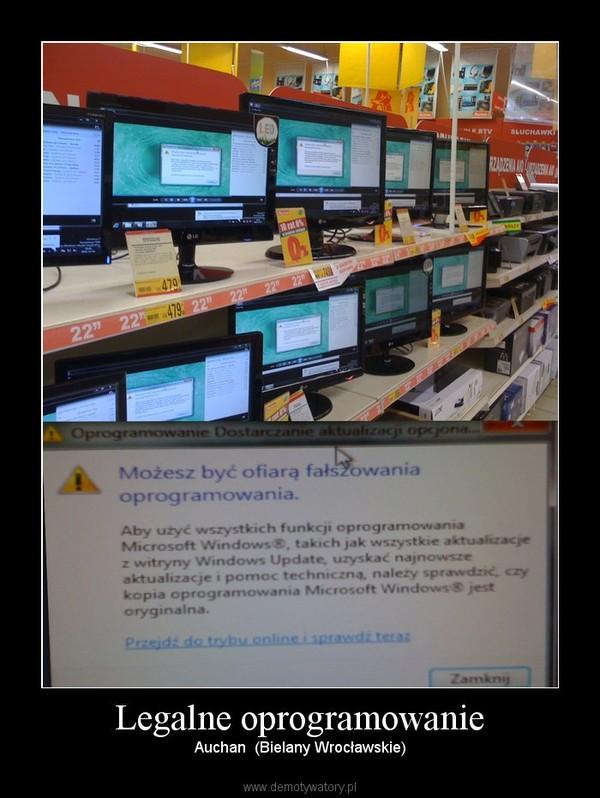 Legalne oprogramowanie – Auchan  (Bielany Wrocławskie)