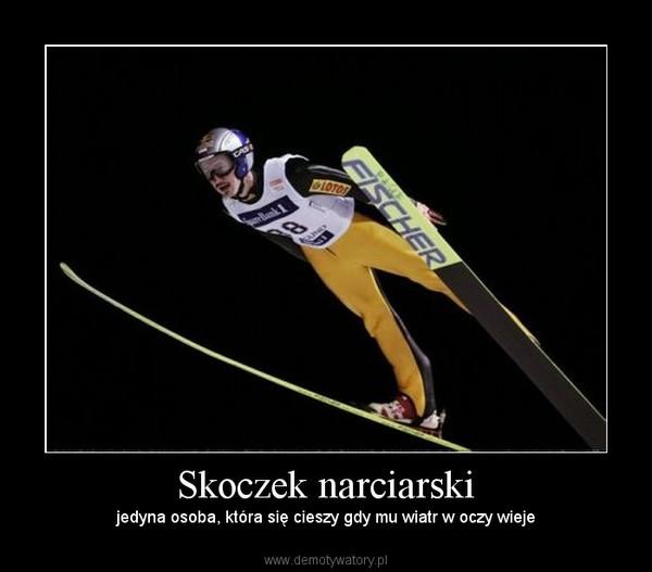 Skoczek narciarski – jedyna osoba, która się cieszy gdy mu wiatr w oczy wieje