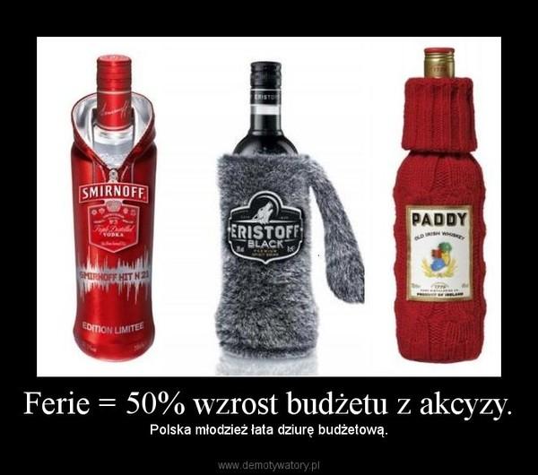 Ferie = 50% wzrost budżetu z akcyzy. – Polska młodzież łata dziurę budżetową.