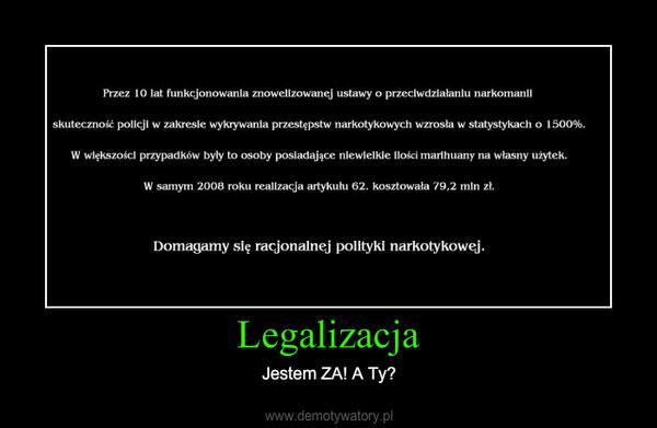 Legalizacja – Jestem ZA! A Ty?