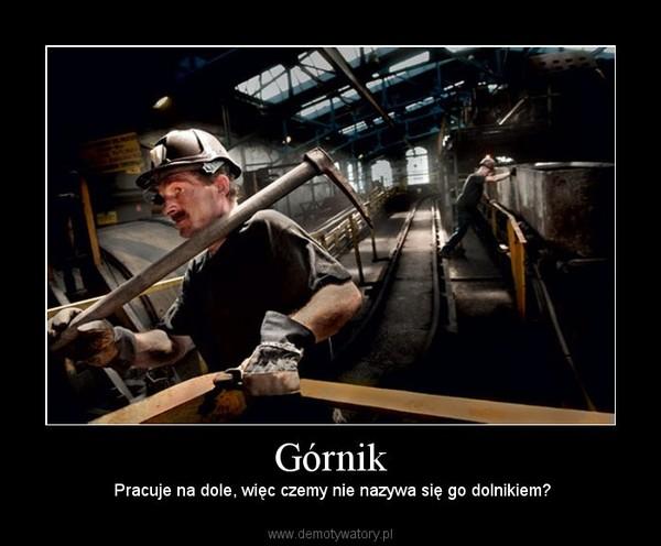 Górnik – Pracuje na dole, więc czemy nie nazywa się go dolnikiem?
