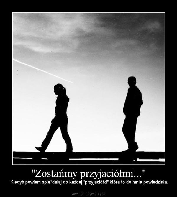 """""""Zostańmy przyjaciółmi..."""" – Kiedyś powiem spie*dalaj do każdej """"przyjaciółki"""" która to do mnie powiedziała."""