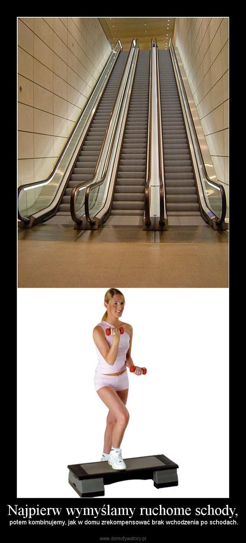 Najpierw wymyślamy ruchome schody, – potem kombinujemy, jak w domu zrekompensować brak wchodzenia po schodach.