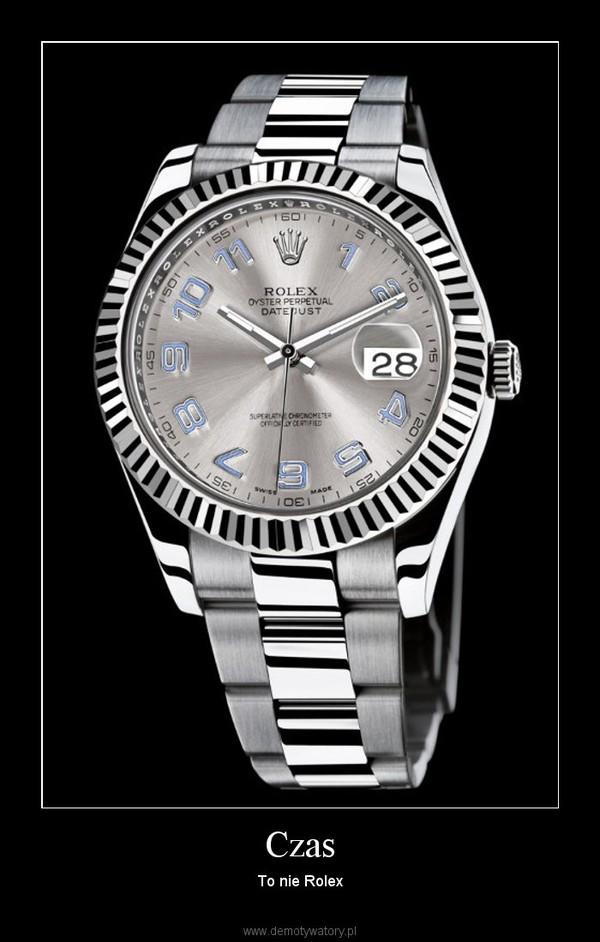 Czas – To nie Rolex