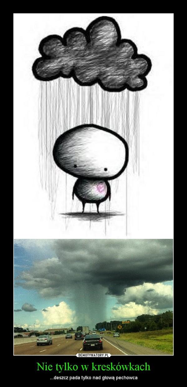 Nie tylko w kreskówkach – ...deszcz pada tylko nad głową pechowca