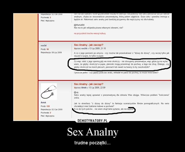 robić kobiety jak seks analny