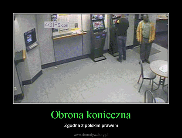 Obrona konieczna – Zgodna z polskim prawem