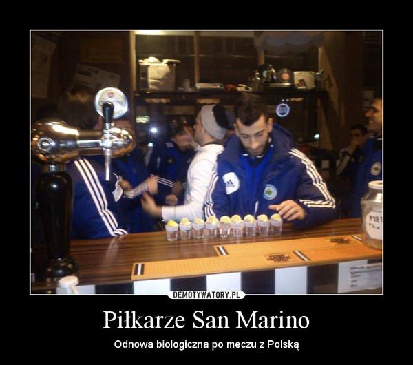 Piłkarze San Marino – Odnowa biologiczna po meczu z Polską