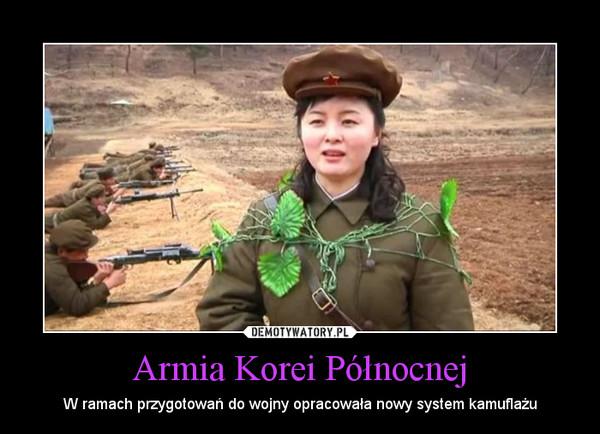 Armia Korei Północnej – W ramach przygotowań do wojny opracowała nowy system kamuflażu