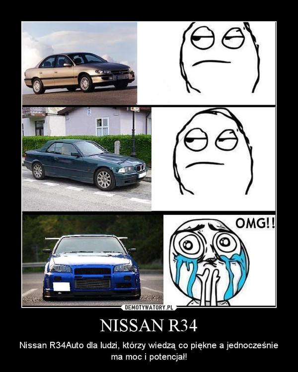 NISSAN R34 – Nissan R34Auto dla ludzi, którzy wiedzą co piękne a jednocześnie ma moc i potencjał!