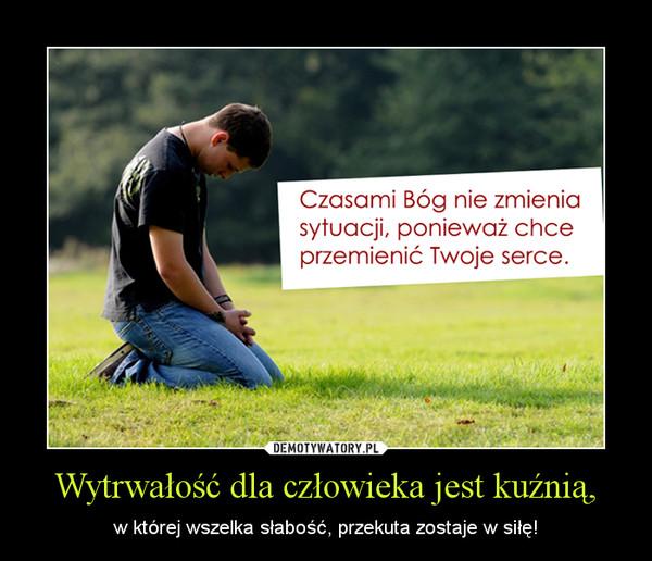 Wytrwałość dla człowieka jest kuźnią, – w której wszelka słabość, przekuta zostaje w siłę!