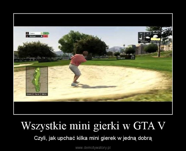 Wszystkie mini gierki w GTA V – Czyli, jak upchać kilka mini gierek w jedną dobrą