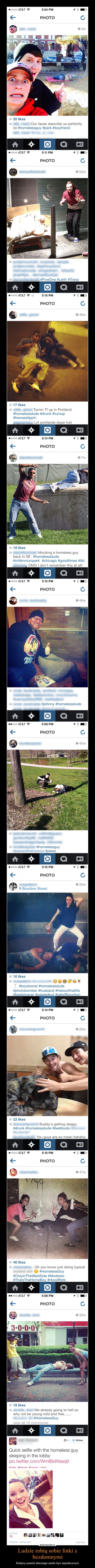 Ludzie robią sobie fotki z bezdomnymi – Kolejny powód dlaczego warto być aspołecznym
