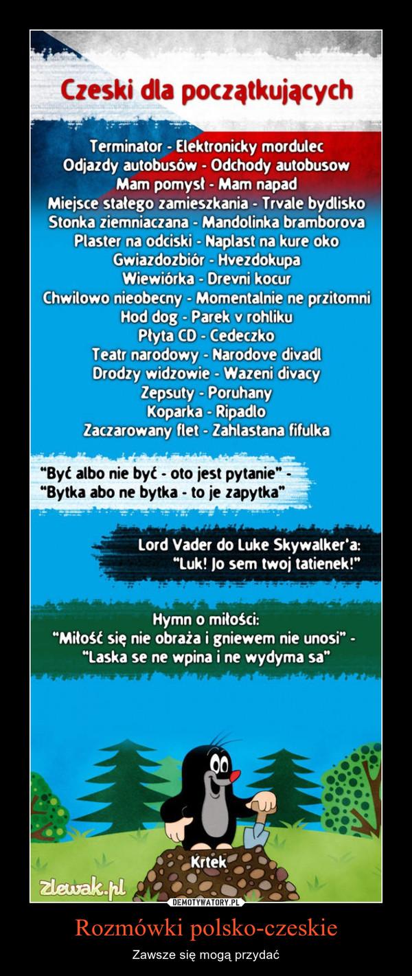 Rozmówki polsko-czeskie – Zawsze się mogą przydać