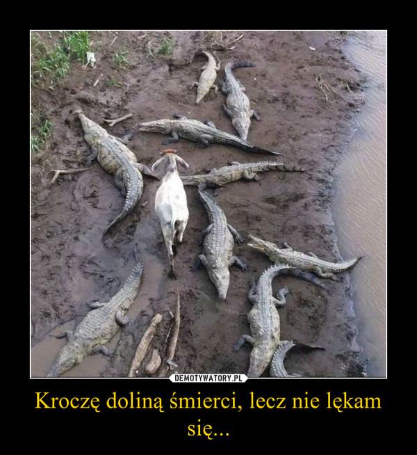 Kroczę doliną śmierci, lecz nie lękam się... –