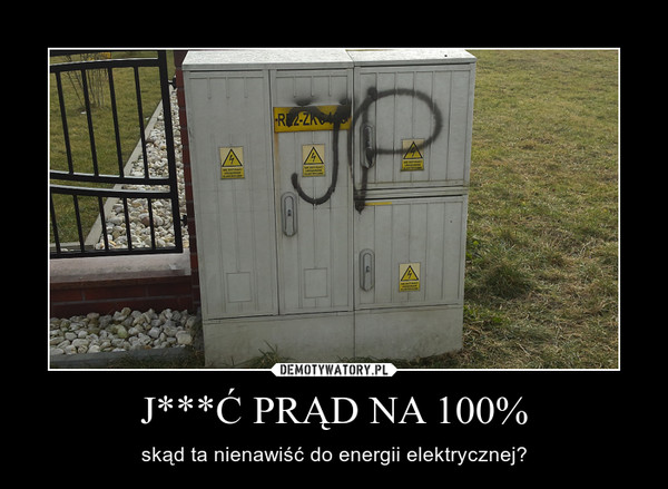 J***Ć PRĄD NA 100% – skąd ta nienawiść do energii elektrycznej?