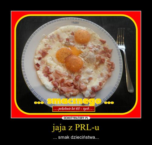 jaja z PRL-u