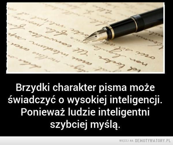 Brzydki charakter pisma –
