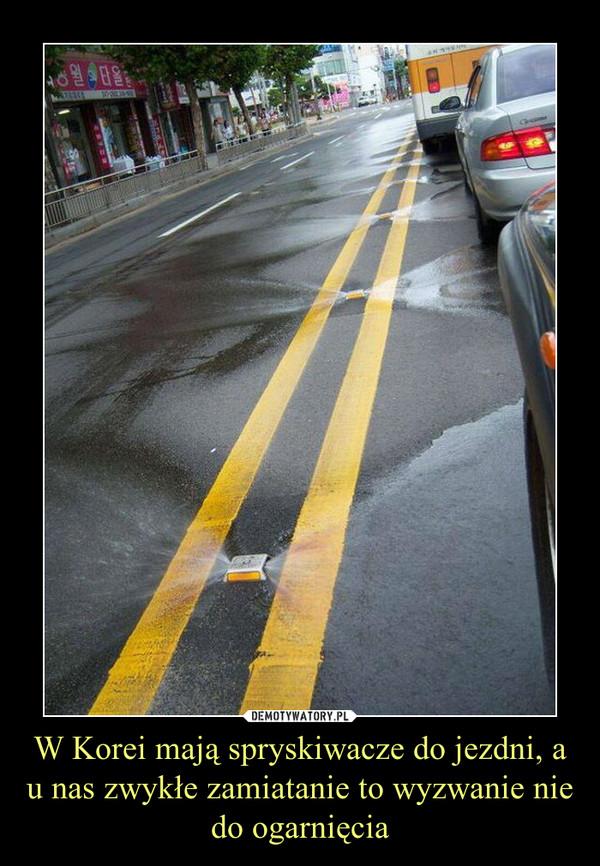 W Korei mają spryskiwacze do jezdni, a u nas zwykłe zamiatanie to wyzwanie nie do ogarnięcia –
