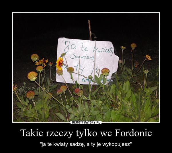 """Takie rzeczy tylko we Fordonie – """"ja te kwiaty sadzę, a ty je wykopujesz"""""""