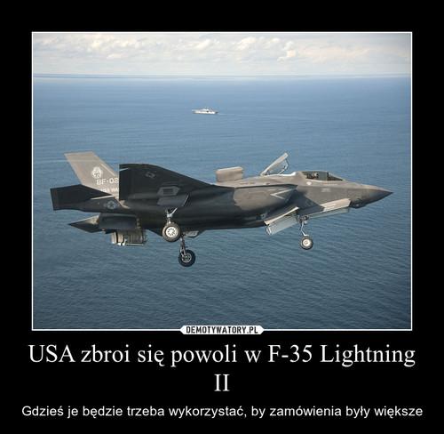 USA zbroi się powoli w F-35 Lightning II