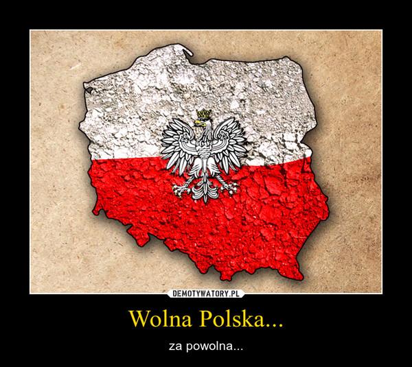 Wolna Polska... – za powolna...