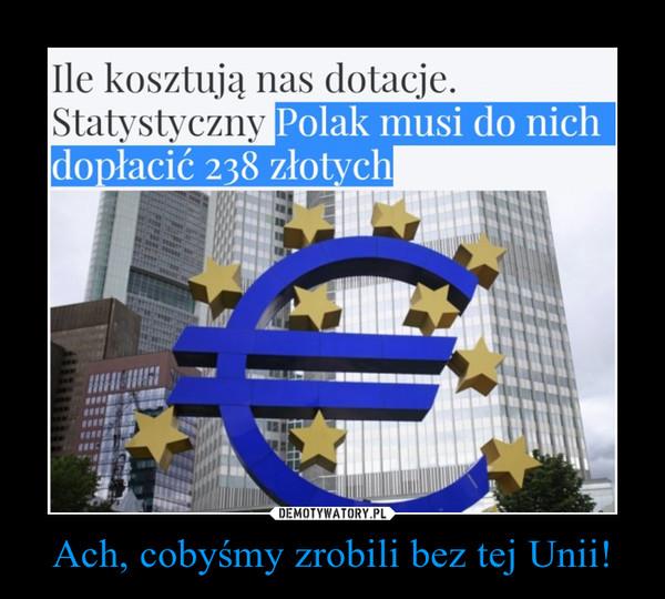 Ach, cobyśmy zrobili bez tej Unii! –
