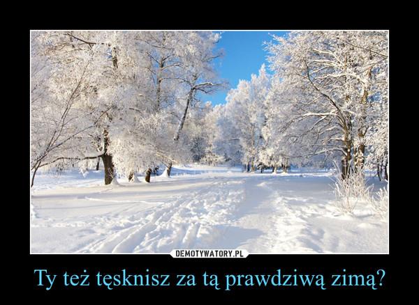 Ty też tęsknisz za tą prawdziwą zimą? –
