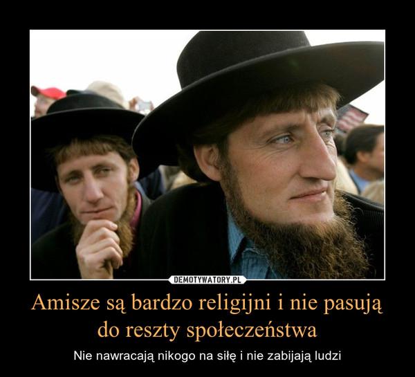 Amisze są bardzo religijni i nie pasują do reszty społeczeństwa – Nie nawracają nikogo na siłę i nie zabijają ludzi