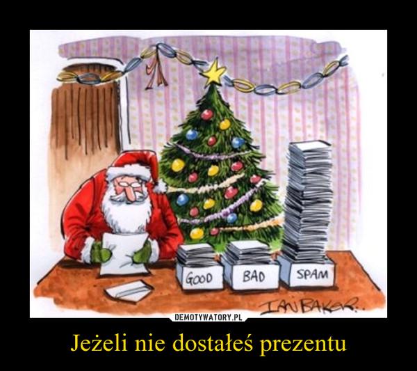 Jeżeli nie dostałeś prezentu –