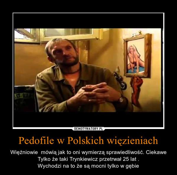 Pedofile w Polskich więzieniach – Więźniowie  mówią jak to oni wymierzą sprawiedliwość. Ciekawe Tylko że taki Trynkiewicz przetrwał 25 lat .Wychodzi na to że są mocni tylko w gębie