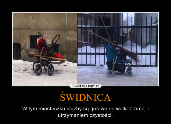 ŚWIDNICA – W tym miasteczku służby są gotowe do walki z zimą  i utrzymaniem czystości.
