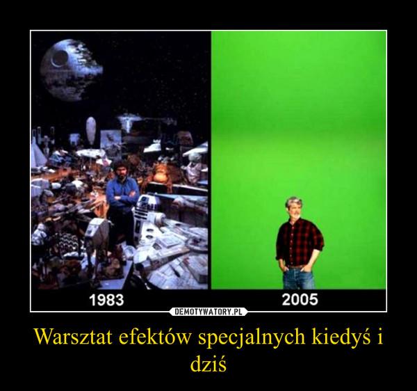 Warsztat efektów specjalnych kiedyś i dziś –