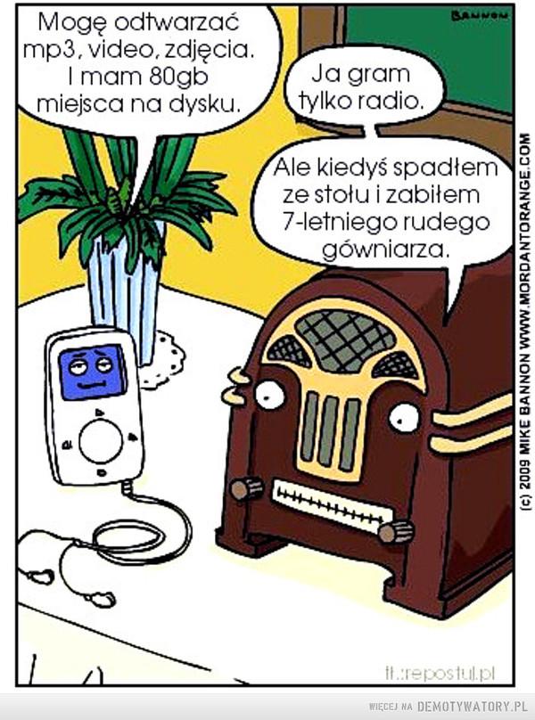 Siła radia kiedyś –