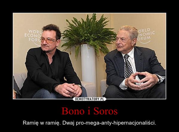 Bono i Soros – Ramię w ramię. Dwaj pro-mega-anty-hipernacjonaliści.