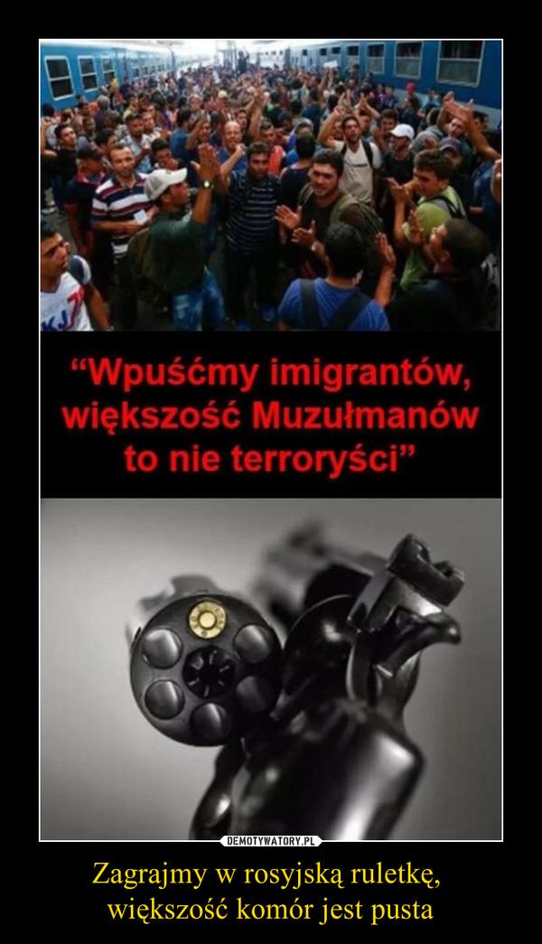 """Zagrajmy w rosyjską ruletkę, większość komór jest pusta –  """"Wpuśćmy imigrantów, większość Muzułmanów to nie terroryści"""""""
