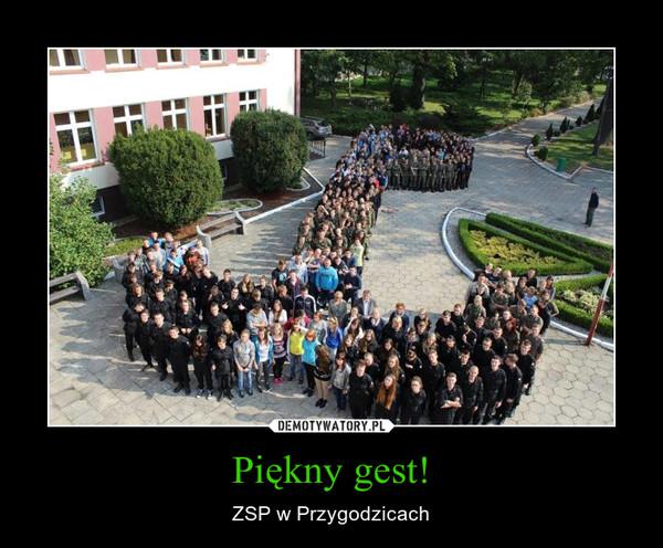 Piękny gest! – ZSP w Przygodzicach