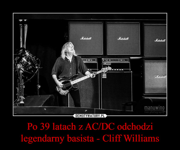 Po 39 latach z AC/DC odchodzi legendarny basista - Cliff Williams –