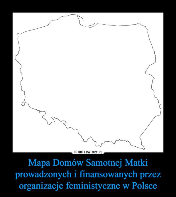Mapa Domów Samotnej Matki prowadzonych i finansowanych przez organizacje feministyczne w Polsce –