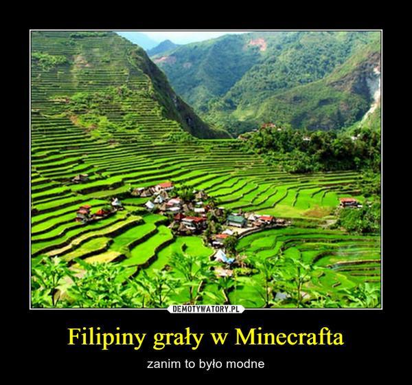 Filipiny grały w Minecrafta – zanim to było modne