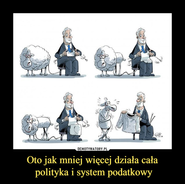 Oto jak mniej więcej działa cała polityka i system podatkowy –