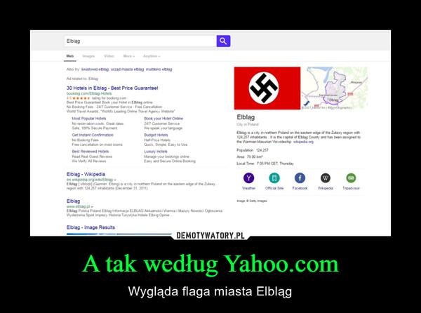 A tak według Yahoo.com – Wygląda flaga miasta Elbląg
