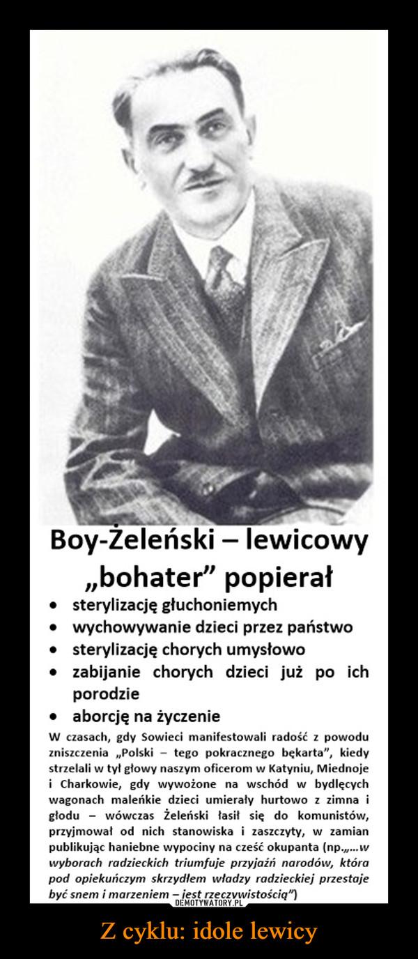 Z cyklu: idole lewicy –