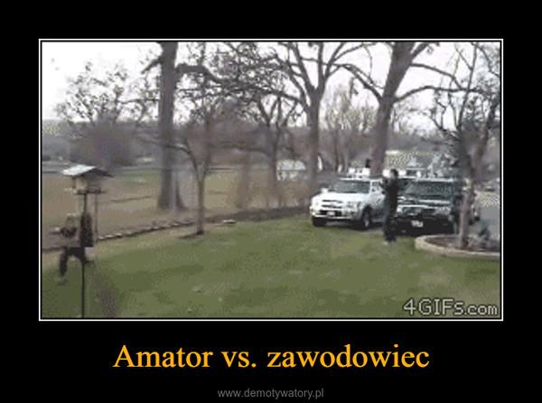 Amator vs. zawodowiec –